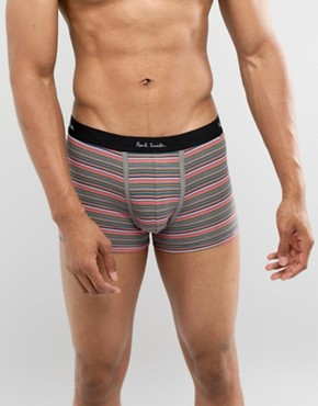 Paul Smith Stripe Trunks In Pink - Pink