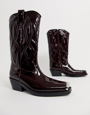 Jeffrey Campbell Eagles leather western boot