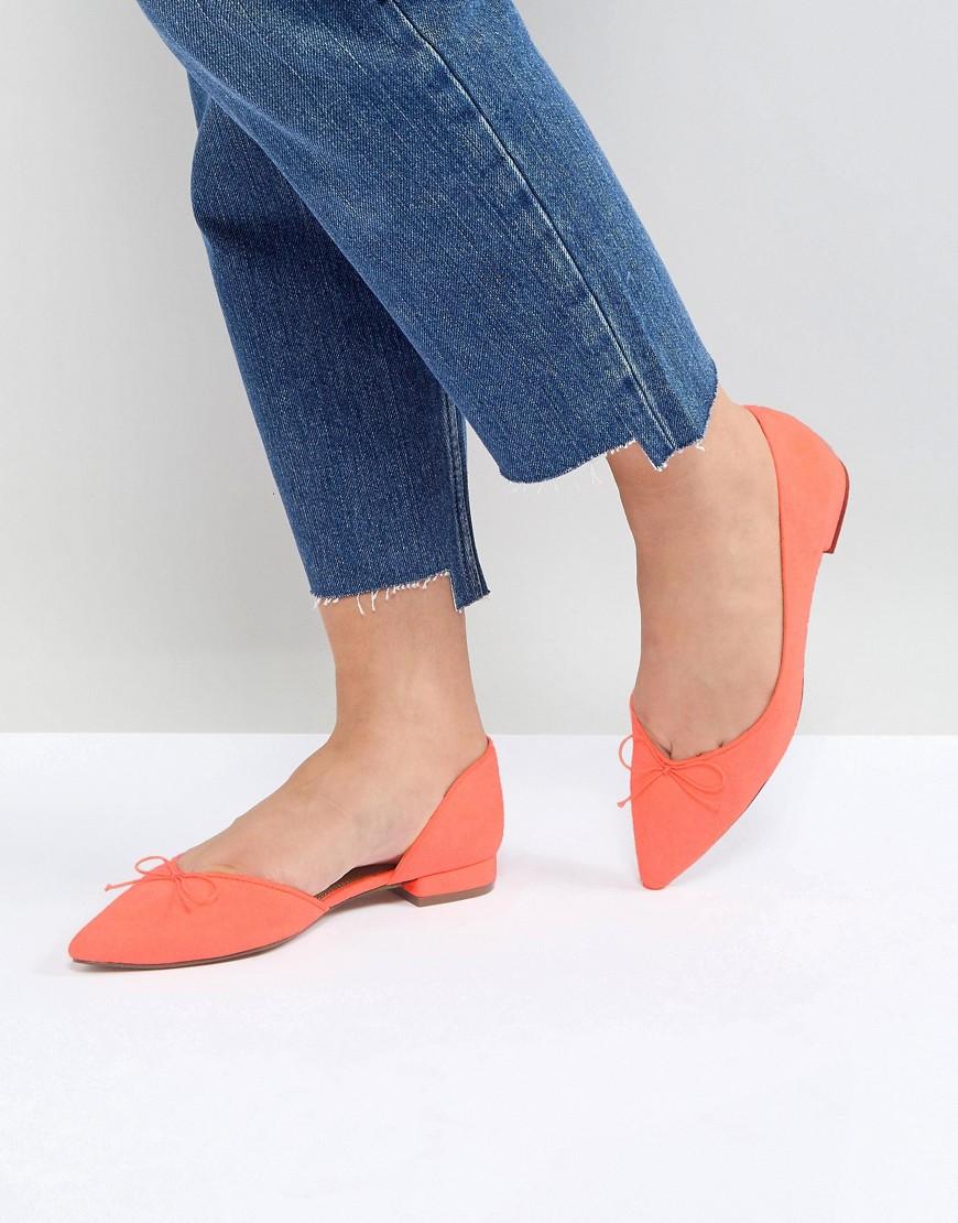 Ballerine Arancione donna Ballerine a punta Arancione ASOS - LEGENDARY