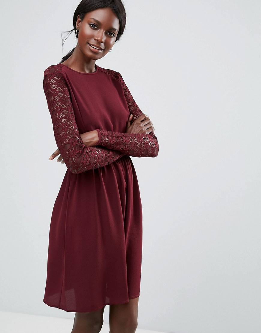 Y.A.S Lace Sleeved Dress