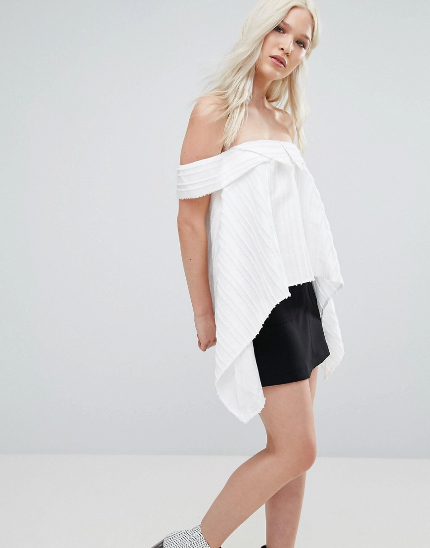 Product photo of N12h cruise cold shoulder blouse white