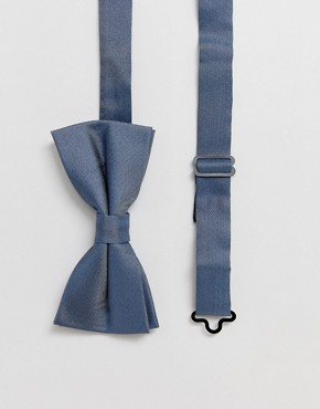 Twisted Tailor bow tie in blue stone