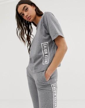 Calvin Klein Performance logo t-shirt in heather grey