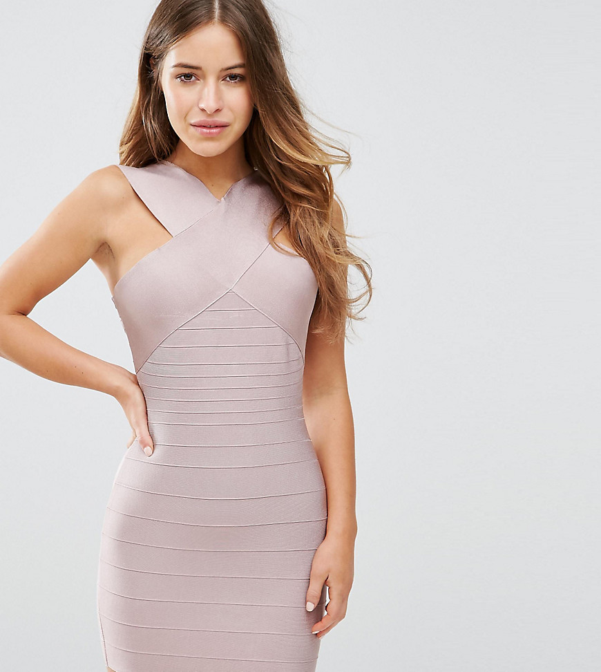 Missguided Petite Exclusive Cross Front Bandage Dress