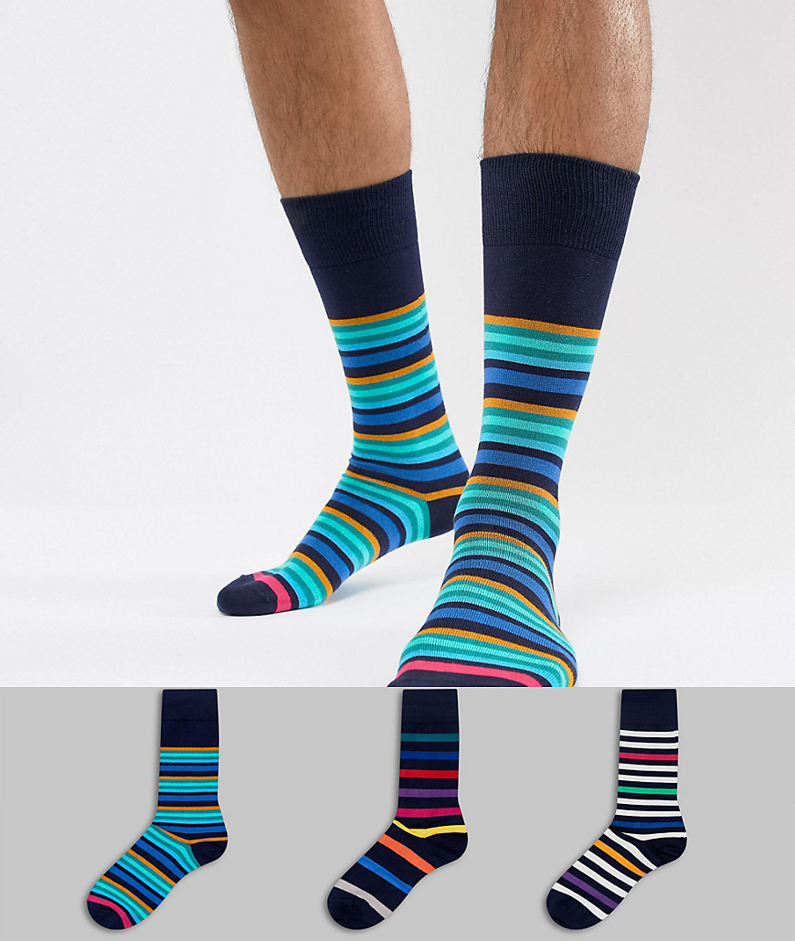 Paul Smith 3 Pack Stripe Socks - 47