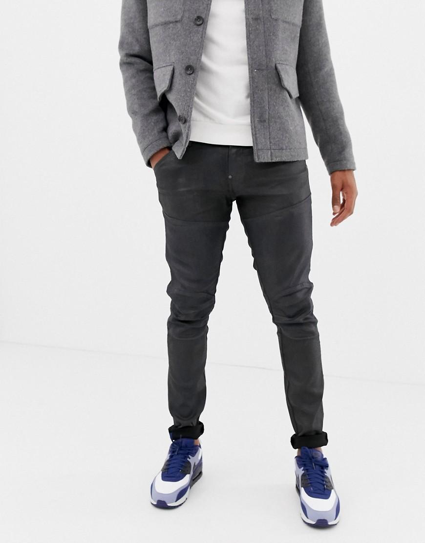 G-Star - Elwood - Skinny-fit denim jeans met stretch in zwart - Dk versleten blauw
