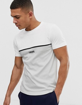 Lacoste Sport colour block logo t-shirt in white