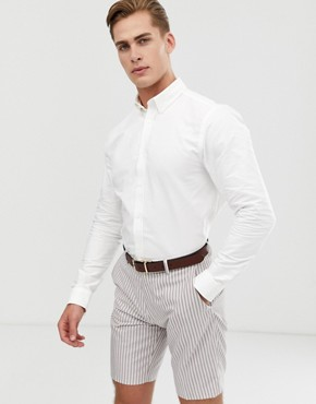 Ben Sherman Oxford Shirt In White