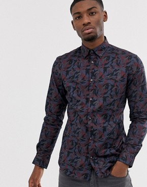 Jack & Jones Premium Slim Fit Shirt With All Over Print