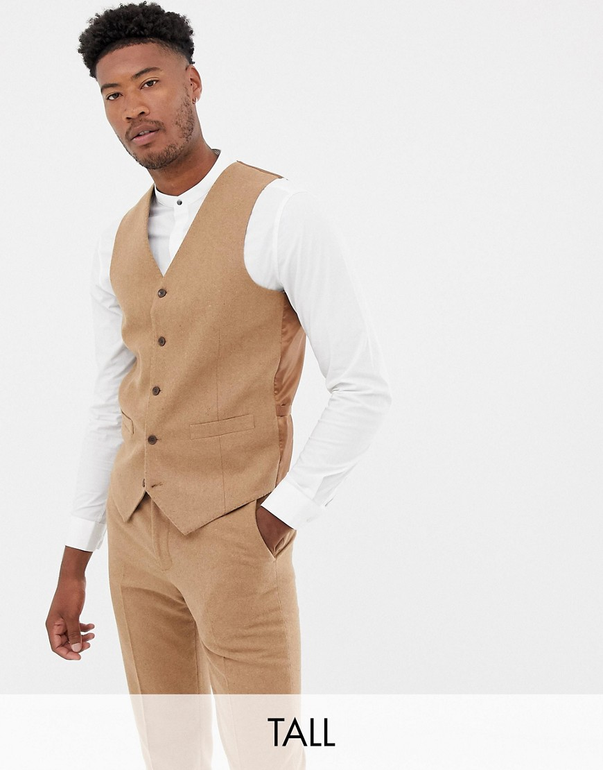 Gianni Feraud Tall slim fit wool blend waistcoat