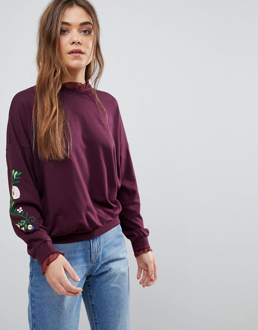 After Market EMBROIDERED SWEATSHIRT - RED