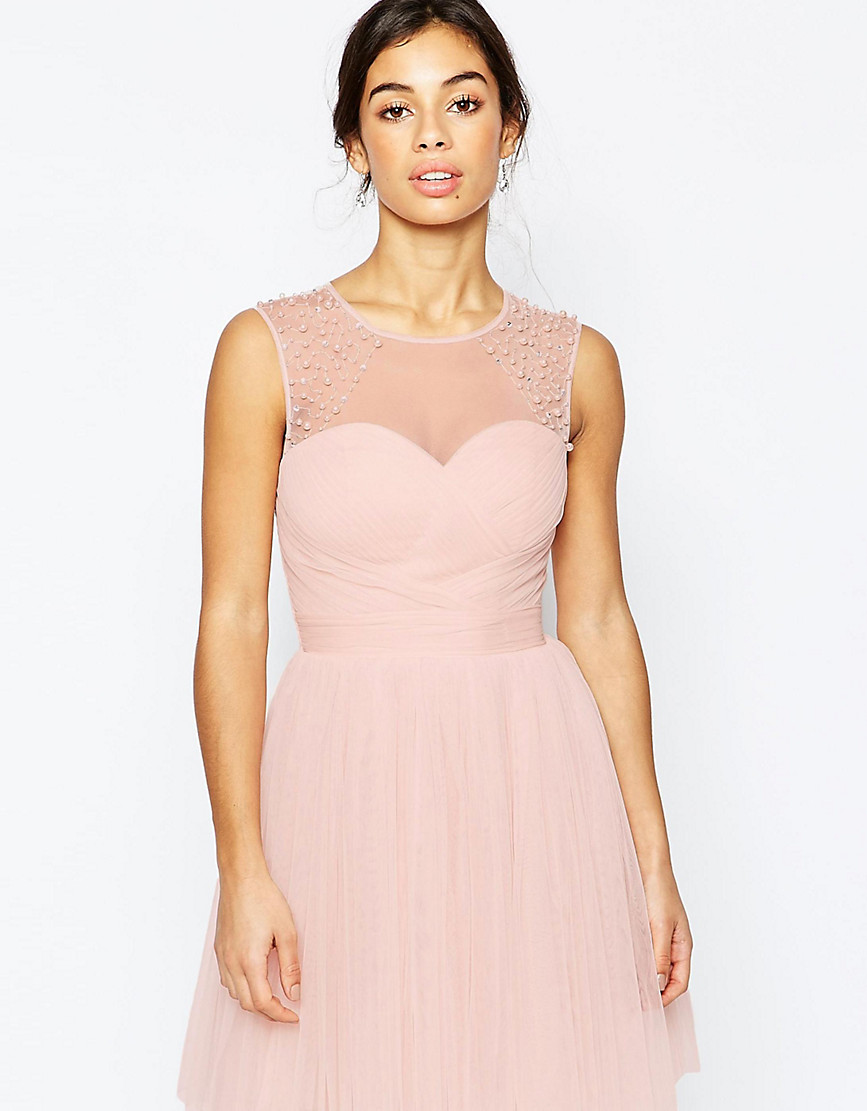 Little Mistress Petite Embellished Prom Dress