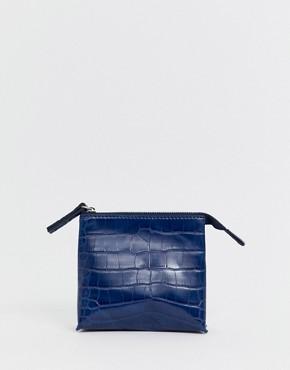 French Connection Lea croc zip purse
