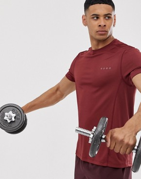 ASOS 4505 training t-shirt with quick dry in red