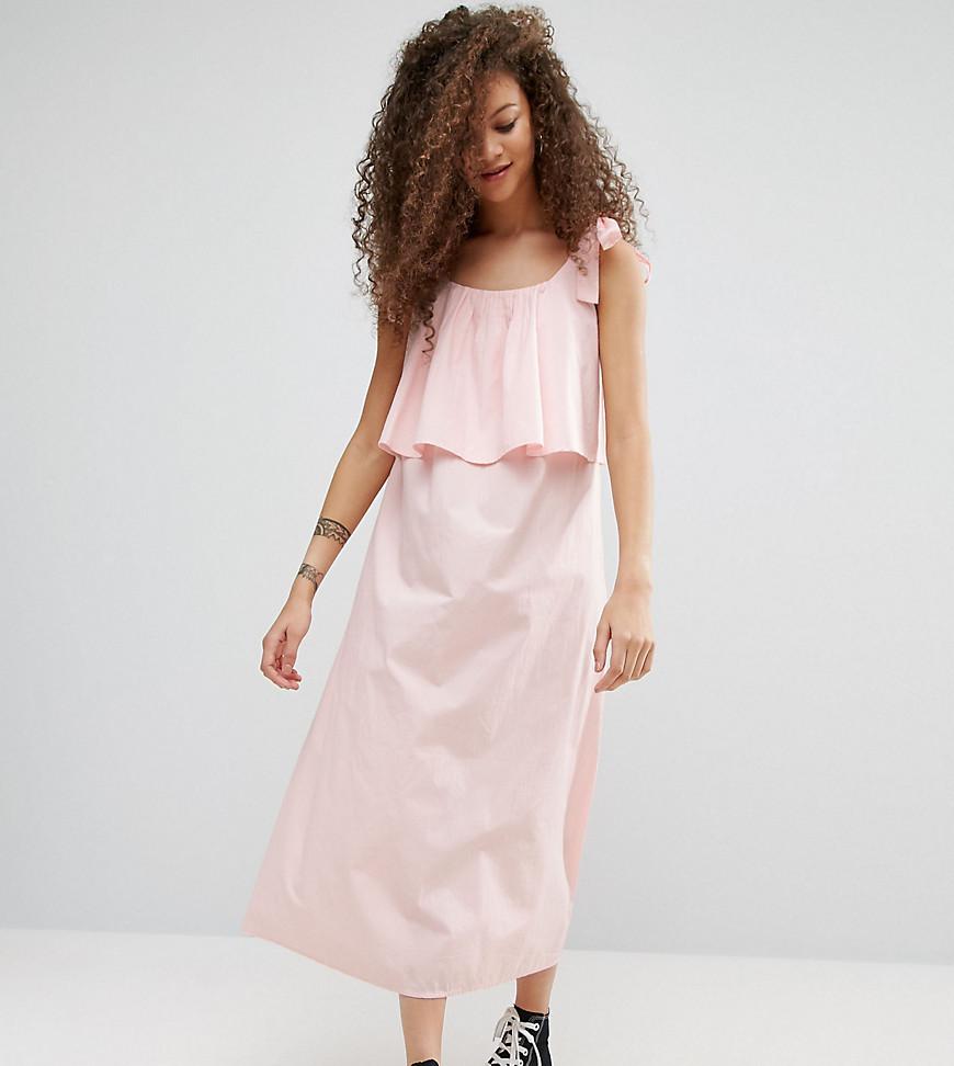 ASOS PETITE Double Layer Maxi Dress in Cotton