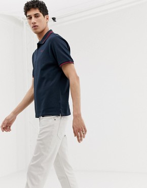 Ben Sherman tipped pique polo shirt