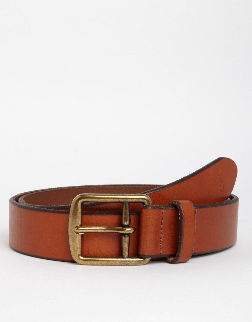 Product photo of Polo ralph lauren saddle leather belt tan