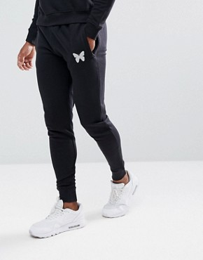 Good For Nothing Skinny Joggers In Black With Reflective Logo - Black