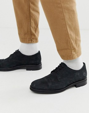 Timberland leather lace up shoe in black