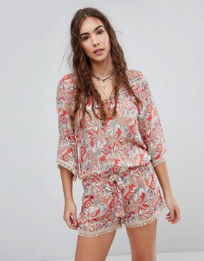 Maaji Printed Beach Playsuit