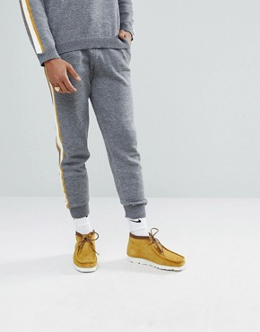 ASOS Knitted Co-ord Joggers With Side Stripe In Grey - Grey