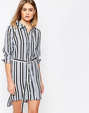 Daisy Street Shirt Dress in Stripe