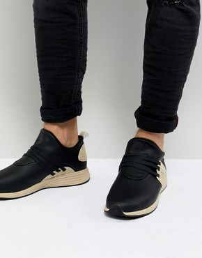 Project Delray Wavey Washed Vegan Trainers - Black