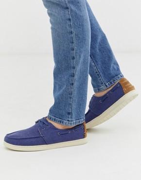 Toms culver boat shoe in blue
