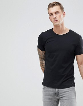 Esprit Organic T-Shirt With Raw Edge - 001