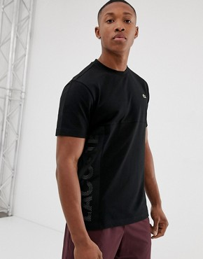 Lacoste Sport side logo t-shirt in black