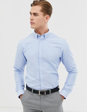 Ben Sherman Oxford Shirt In Blue