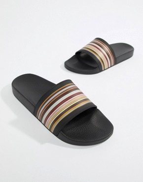 Paul Smith Ruben Classic Stripe Slider - Multi