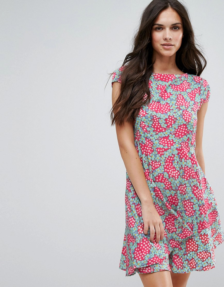 Anmol Fit And Flare Dress In Daisy Chain Print