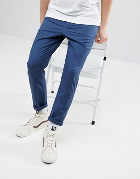 ASOS DESIGN Tapered Chinos In Midnight Blue - Insignia blue