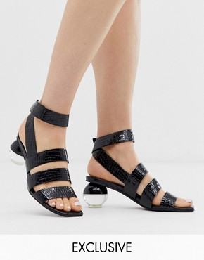 Jeffrey Campbell Exclusive Nebolon mock croc mid heeled sandal