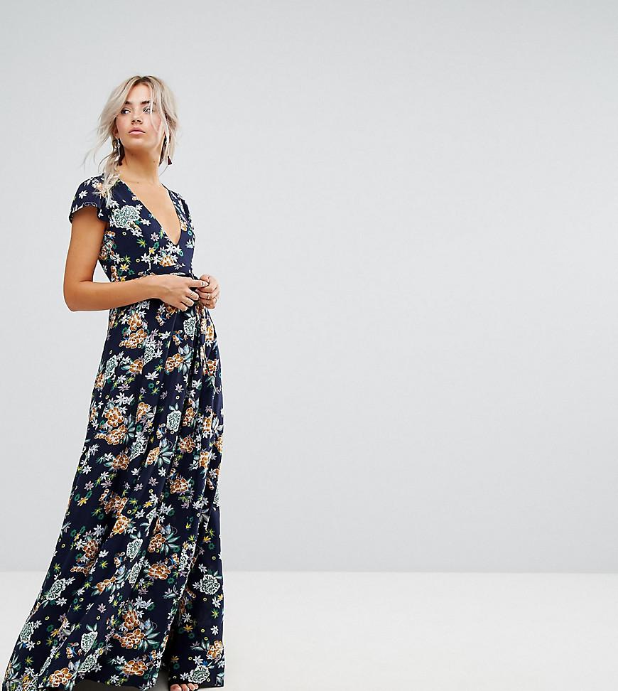 Uttam Boutique Petite Floral Maxi Wrap Dress