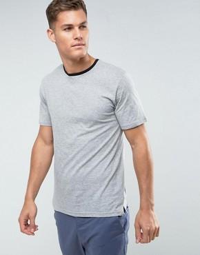 Troy Melange Ringer T-Shirt - Grey