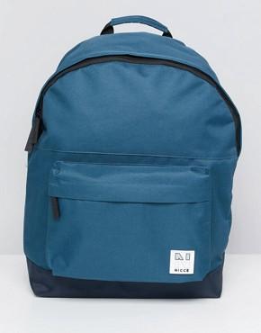Nicce logo backpack in blue - Blue