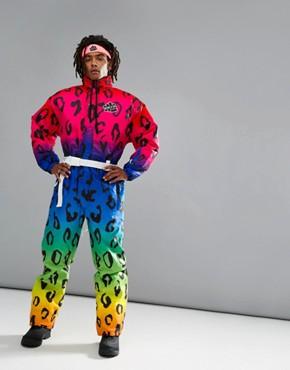 OOSC Leopard Ski Suit in Pink/Purple - Pink