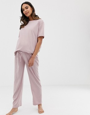 ASOS DESIGN Maternity mix & match marl pyjama jersey trouser