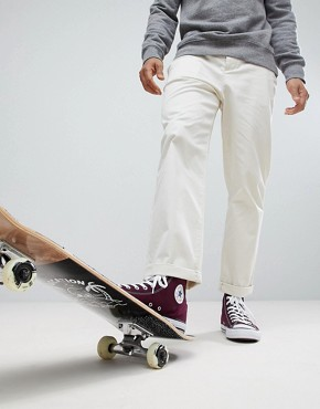 ASOS Skater Chinos In Beige - Birch