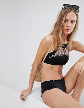 Hobie High Neck Floral Bikini Top