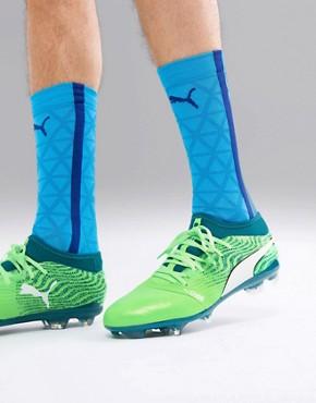 Puma One 18.2 FG Football Boots - Green/white
