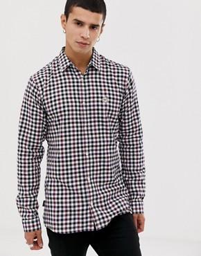 Le Breve flannel longline check shirt