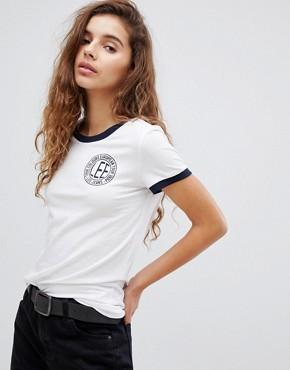 Lee Logo Ringer T-Shirt - Midnight blue