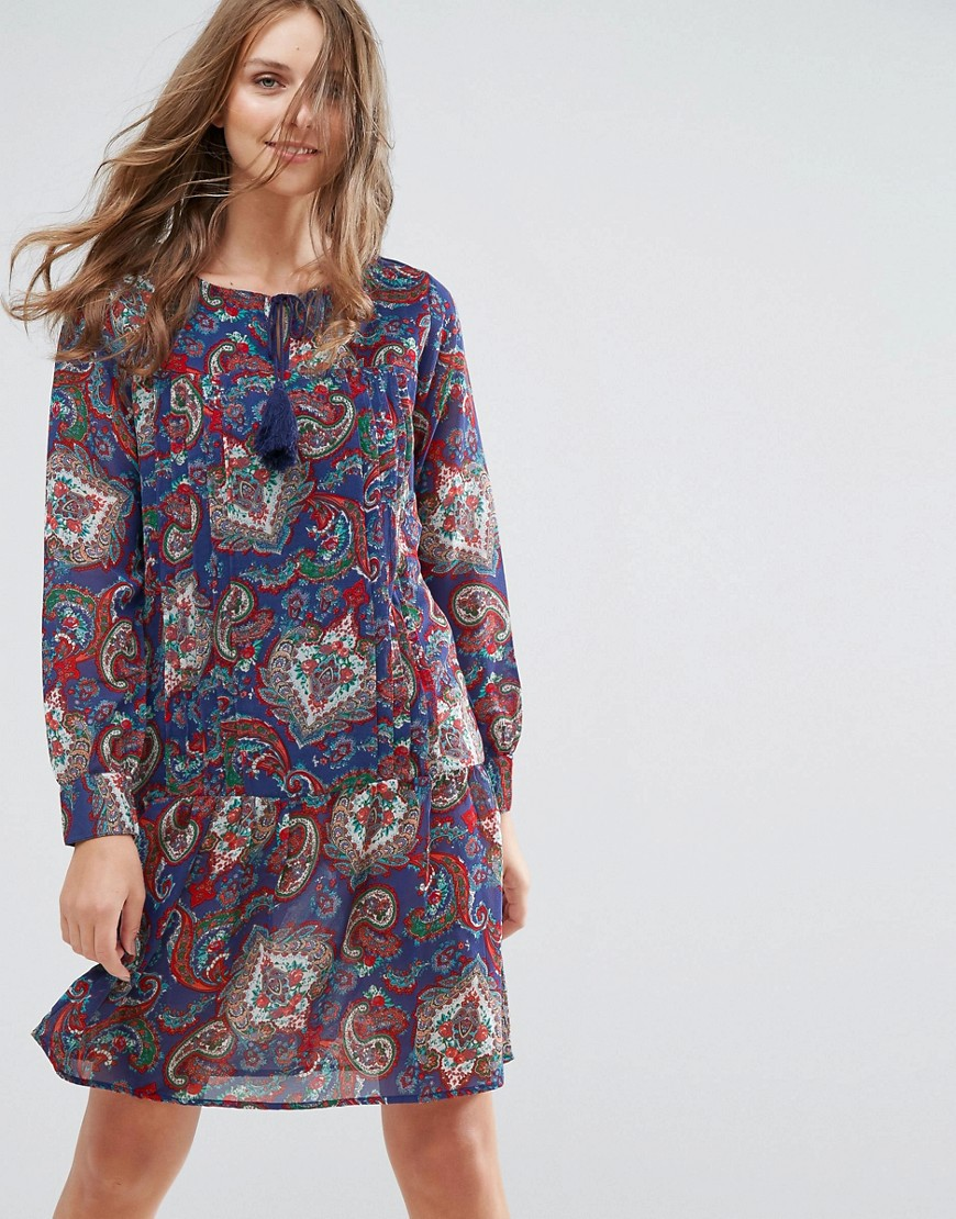 Anmol Tunic Dress With Tassle Ties