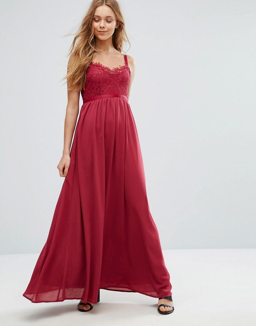 Vero Moda Lace Trim Maxi Dress