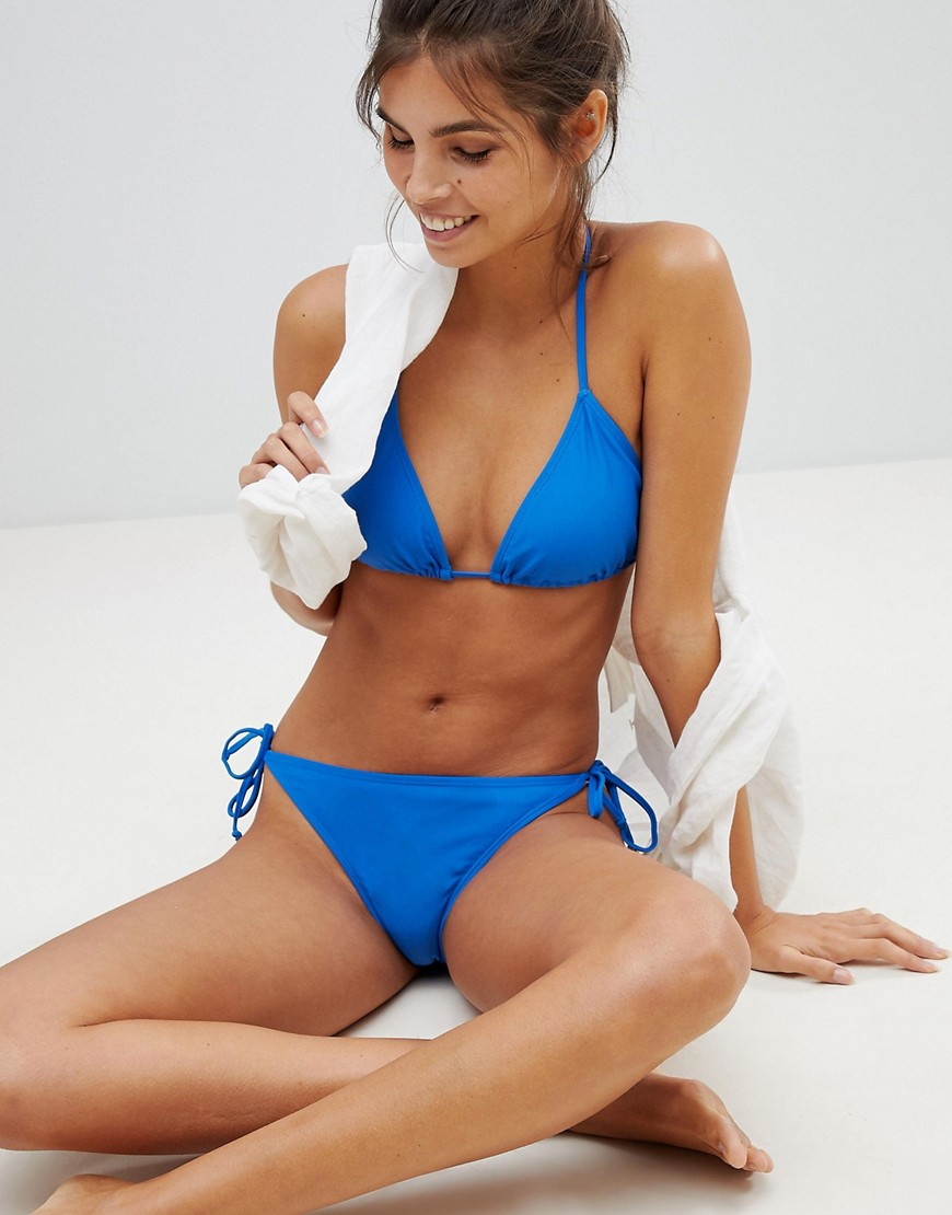 Mare Blu donna Top bikini a triangolo Blu Vero Moda