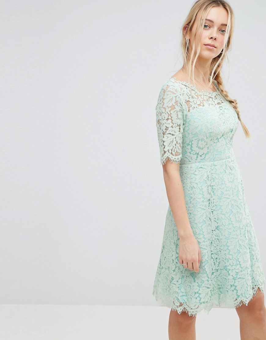 Product photo of Glamorous lace skater dress  icy mint