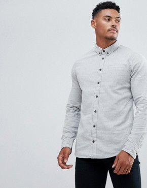 Blend brushed cotton shirt